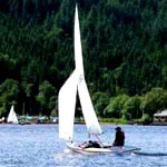 Sailing on Loch Ard